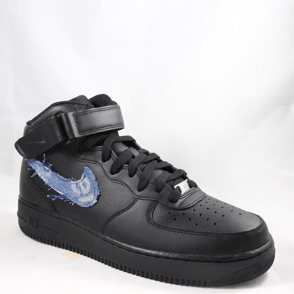 nike air force 1 supreme x louis vuitton denim custom